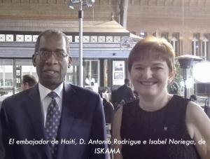 Lyskam con Haití: Isabel Noriega con el Embajador de Haití