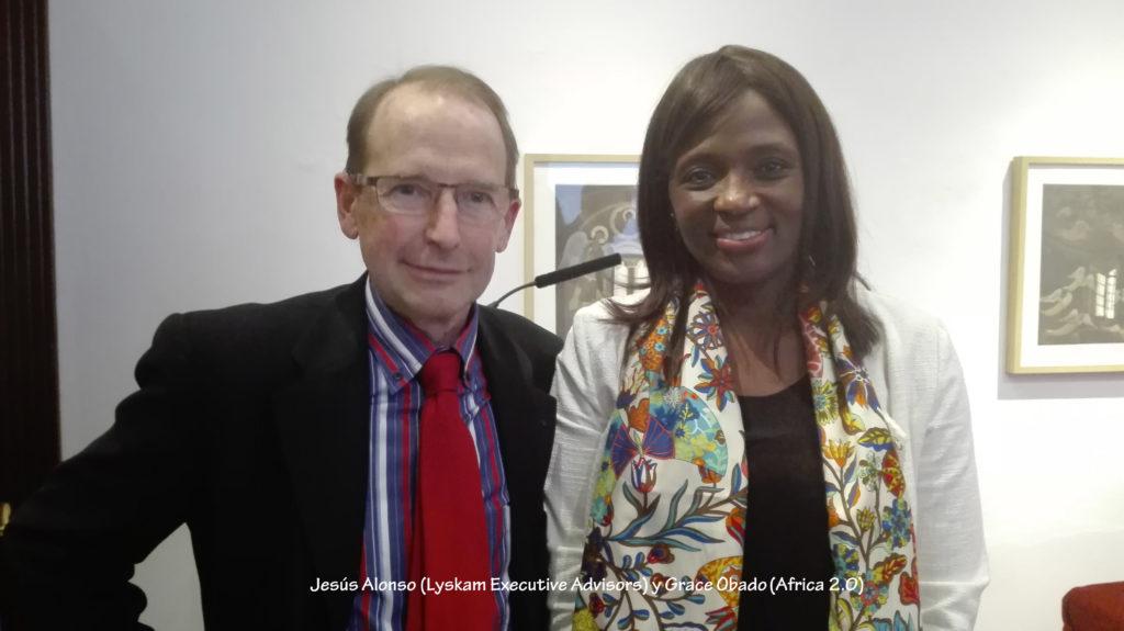 Jesús Alonso y Grace Obado