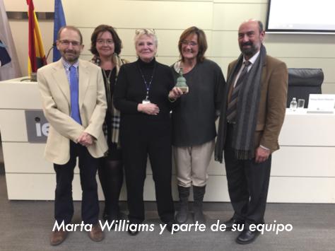 Lyskam EA: Entrega de premio a la innovación a Marta Williams