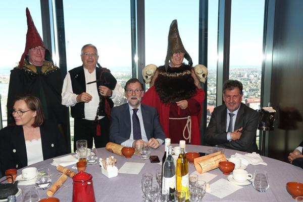 Comida de empresarios con el presidente del gobierno en el hotel Eurostars